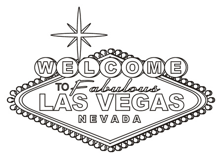 Coloring banner las vegas Stock Photo