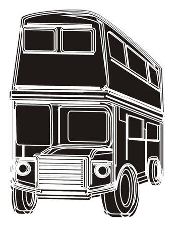 english culture: Solid black British bus