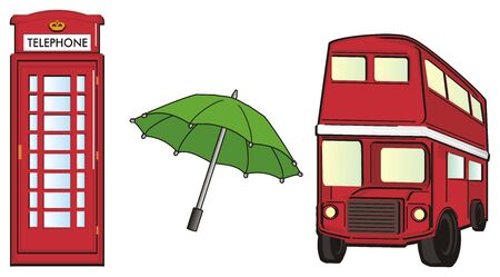 english culture: Red abd green symbols of London