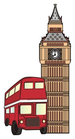 Red british bus