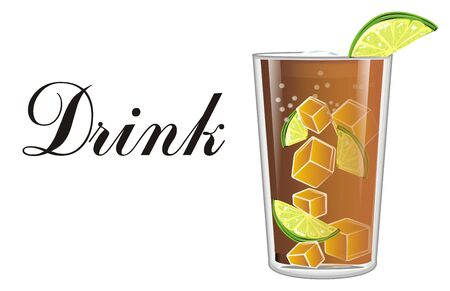 Drink cuba libre cocktail