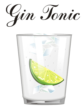 Cocktail gin tonic with his name