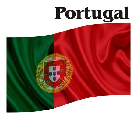 territory: Flag of Portugal Stock Photo