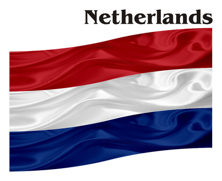 Netherlands flag with his name Reklamní fotografie - 80084192