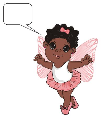Afro fairy with clean callout