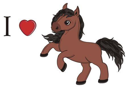 I love horse Stock Photo