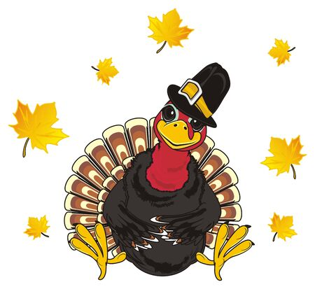 Turkey in hat Stock Photo
