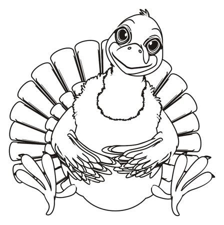 Coloring happy turkey