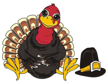 Turkey and black hat