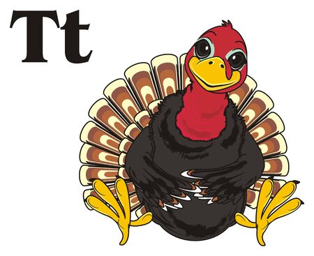 Turkey and black letters t