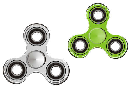 Green and gray spinners