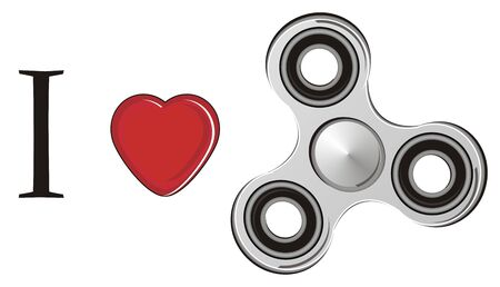 I love spinner Stock Photo