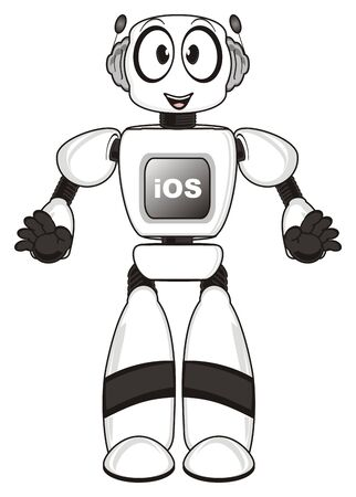 Robot and letters ios