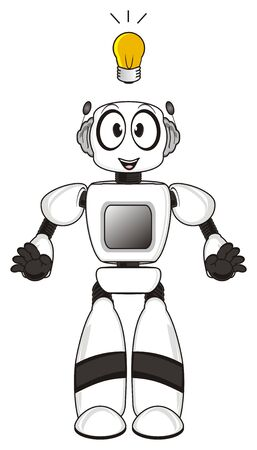 Robot has idea Stock Photo