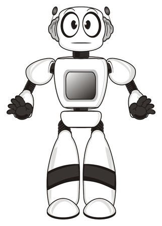 Robot with out emotion Stock Photo