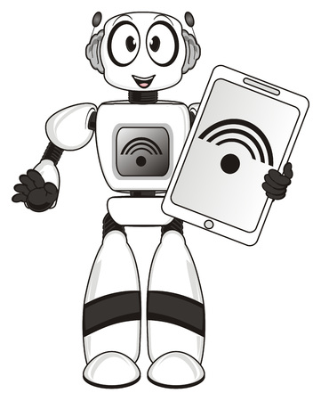 Robot with phone and signal wi-fi
