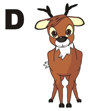 maestro: Deer and letter d Stock Photo