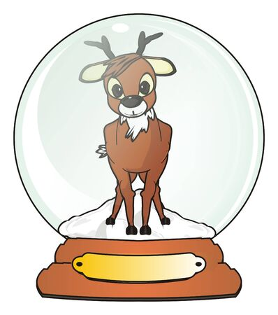new: Deer stand in snow ball