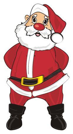 Smiling santa claus stand