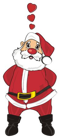 Santa claus in love stand