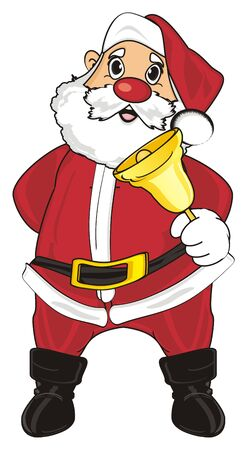 Santa claus stand and ringing on the ball Stock Photo