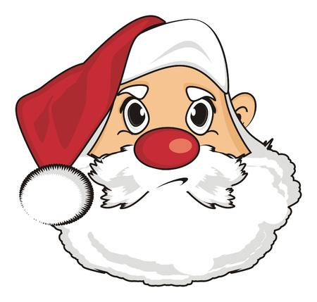 Angry face of santa claus Stock Photo