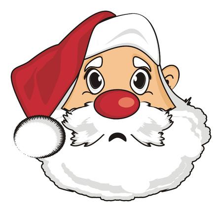 Sad face of santa claus Stock Photo