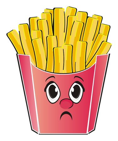 Sad face of french fries