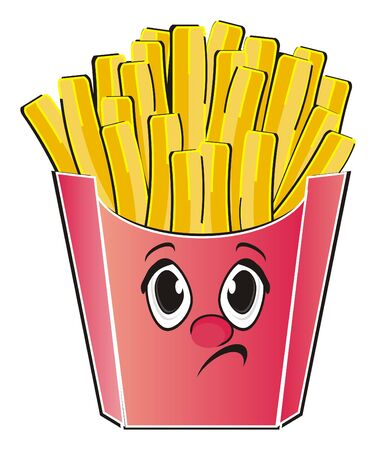 Not happy face of french fries