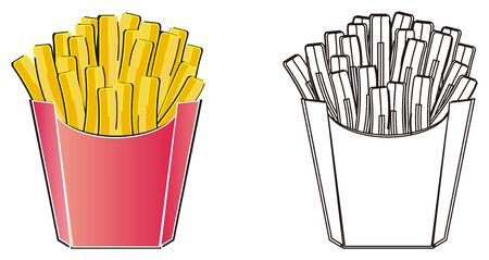 Colored french fries and coloring french fries