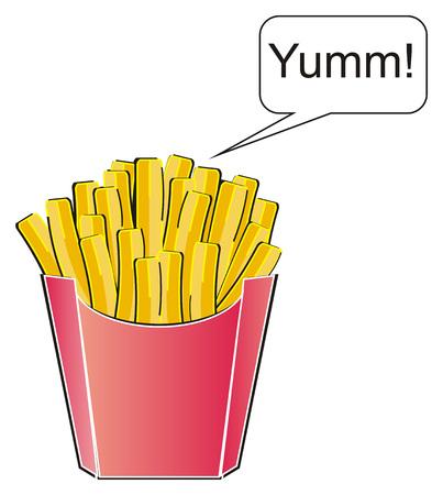 French fries is yummy 版權商用圖片