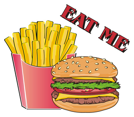 Words eat me with fast food
