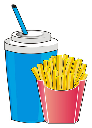 Drinkand french fries