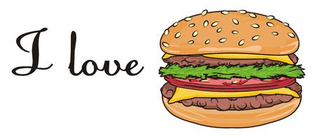 sesame street: I love burger