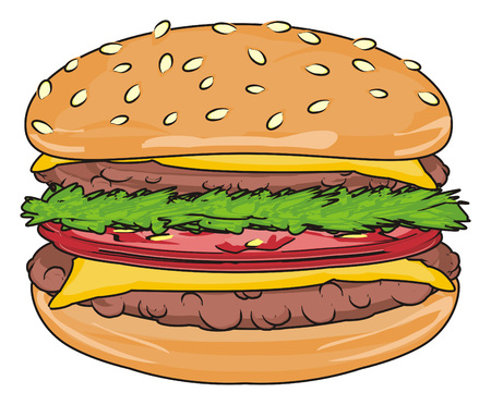 One tasty burger Stock Photo