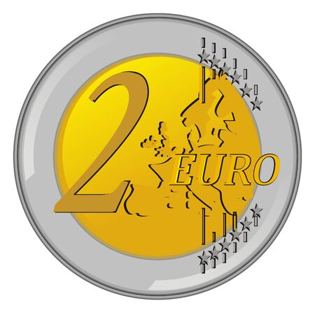 Coin of two euro