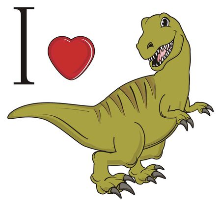 I love green dinosaur