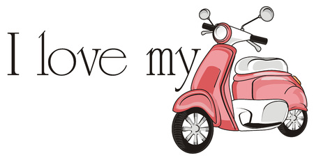 I love my pink moped