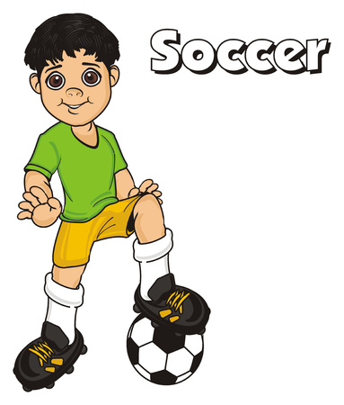 soccer player and word soccer