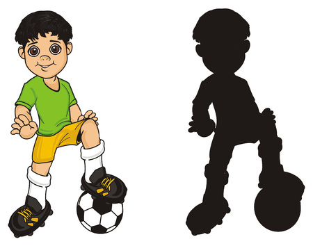 pair of different soccer players