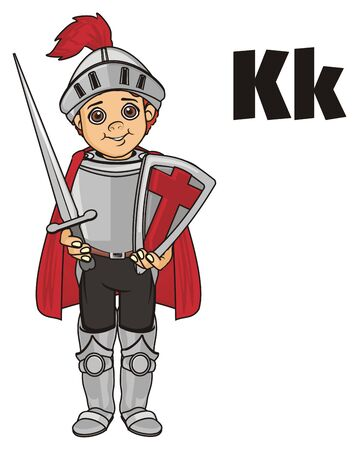 warriors: knight and letters k Stock Photo