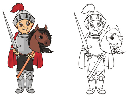 pair of different knights Stock Photo