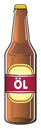 bottle of beer with letter ol