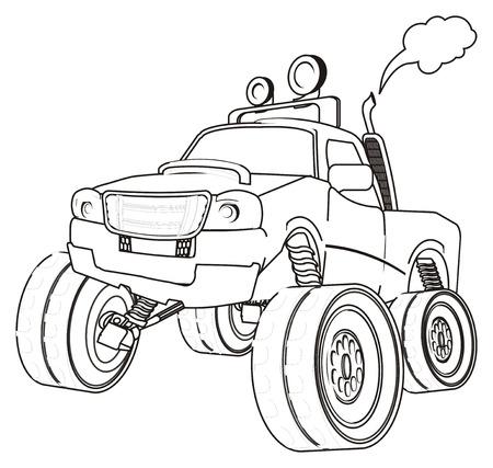 Groß Monster Truck Färbung Bilder Bilder - Dokumentationsvorlage ...