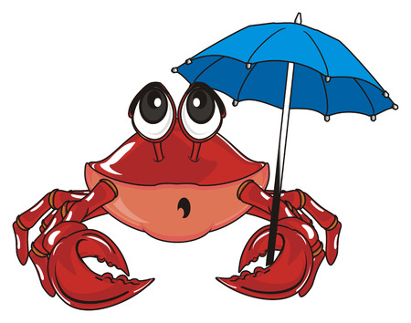 surprise red carb with umbrella