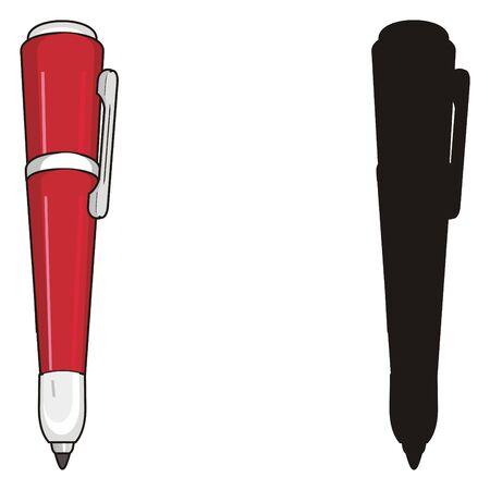 red pen with solid black pen Banco de Imagens