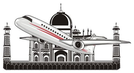 plane and black India Stock Photo