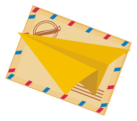paper plane and large envelope