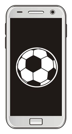 mobile with a soccer ball