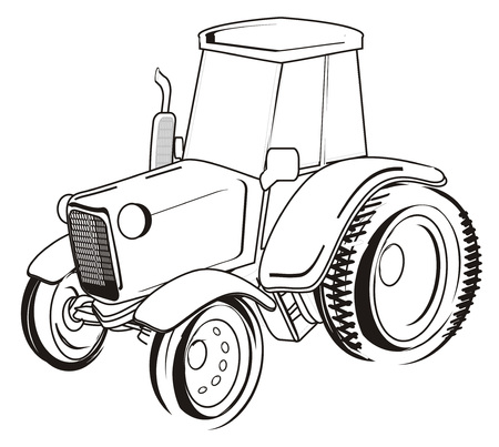 coloring one tractor stand